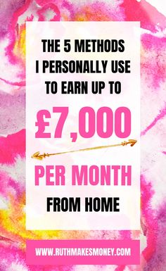 Discover the methods I used to quit my full-time job and earn up to £7k per month working from home - and how you can do the same!