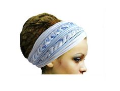 Check out this item in my Etsy shop https://www.etsy.com/listing/241619515/dreadlock-accessories-headband-head