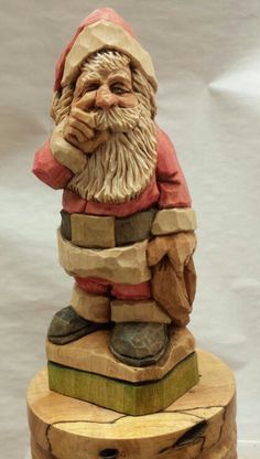 New Santa 2016 roughout maybe 5 1/2 tall 2x2