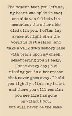 The Moment You Left Me Print Canvas or Wood Sign Sympathy Gift Memorial Gift Bereavement Gift Cowoker Gift Missing You Quotes For Him, Quotes To Live By, Life Quotes, You Left Me Quotes, Miss You Brother Quotes, I Miss You Dad, Advice Quotes, Crush Quotes, Relationship Quotes