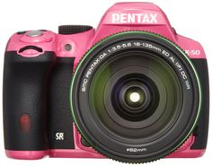 Pentax K-50 16MP Digital SLR with 18-135mm Lens (Pink) - International Version. Because it is active, we can go together. To the new photo life. The camera becomes active so far. Always, in order to beautifully record the memories. Lightly Mochiaruke, round form that fit snugly in the hand. Environmental performance, not during the day rain, strong imaging capability in darkness. Spacious finder field and rapid-fire performance to meet the shutter chance. Can go together if K-50 and. Even...