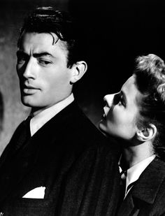 Gregory Peck and Ingrid Bergman in Spellbound, 1945