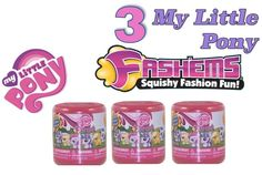 Lot of 3 My Little Pony Series 2 FASH'EMS MASH'EMS Capsules NEW Unopened Fashems #Hasbro
