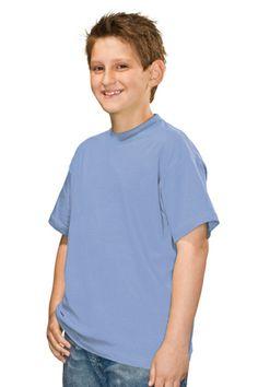 Blank Clothing - DALLAS | plain kids eco t-shirts | Light Blue | Hanes Brand
