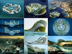 Floating green eco cities