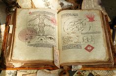 This Grimoire was designed as a prop for a movie by Ross MacDonald, but the techniques would work beautifully for a personal book of shadows.