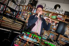 Dan Deacon: NPR Music Tiny Desk Concert He is so great! I would definitely go see him live- he can definitely work a room