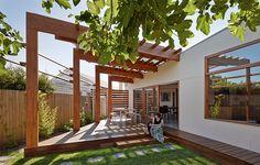 Pergola With Retractable Canopy Product Pergola Attached To House, Deck With Pergola, Covered Pergola, Backyard Pergola, Pergola Plans, Pergola Ideas, White Pergola, Corner Pergola, Gazebo