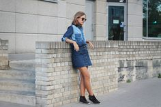 So in Carmel / Total denim look http://ift.tt/1JZPznV // see more at bestfashionbloggers.com