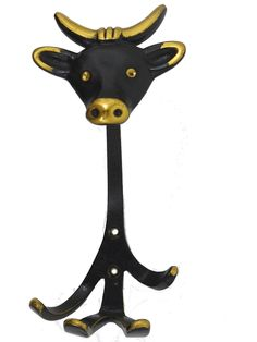 Cult Brass hook cow by Walter Bosse for Hertha Baller, Vienna from the 1950s. Comes with original screws. Dimensions Width:  10cm or 3.94 inches Depth:   9cm or 3.54 inches Length: 17cm or 6.69 inches