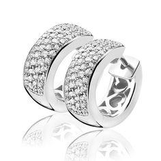 ZINZI zilveren creolen 17 x 6,5mm wit ZIO506 - Creolen/ oorringen - Oorbellen… Wedding Rings, Jewellery, Engagement Rings, Enagement Rings, Jewels, Schmuck, Diamond Engagement Rings, Wedding Ring, Jewelry Shop