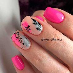 Nagellack Design, Nagellack Trends, Hot Pink Nails, Pink Nail Art, Nails Only, Love Nails, Color Nails, Stylish Nails, Trendy Nails