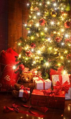 Christmas - Gifts do not have to be expensive, they need to be wrapped pretty, glisten under the tree lights & contain thoughtful, personal loved treasures that warm another person's heart. Christmas Tree Gif, Holiday Gif, Magical Christmas, Christmas Scenes, Christmas Wishes, Christmas Pictures, Christmas Holidays, Christmas Decorations, Xmas Gif