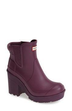 Hunter 'Original - Block Heel' Chelsea Rain Boot (Women) available at #Nordstrom