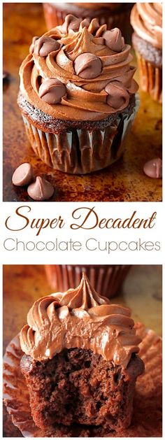 Chocolate Lovers – get excited! These rich, fudgy, super decadent chocolate cupcakes are all for you! So soft, fluffy, and full of chocolate flavor in every bite… they're addicting! And a chocolate lovers dream The idea for these pretty little cupcakes came straight from my longing to get BACK in the kitchen after a drawn out (and pretty …