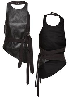 [ canvas and leather harness - ksubi ]