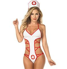fc1a454b19 Befox Nurse White Halloween Cosplay Traje de lencería Strappy Uniform  Temptation Traje de lencería Costume Sexy