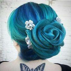 Shop Hair Color on www.blue-raven.com ! #Hair #Color #Blue #Style #Gothic #Gothique