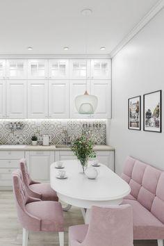 Kitchen Room Design, Home Room Design, Dining Room Design, Home Decor Kitchen, Interior Design Kitchen, Purple Bedroom Decor, Luxury Dining Room, Küchen Design, Apartment Interior