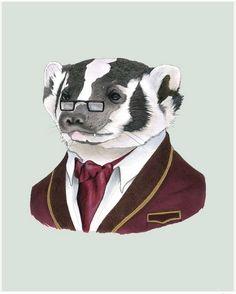 Miss spectacles Berkley Illustration, animals wearing glasses, geeky art, nerdy…