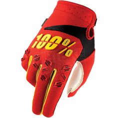 2016 100% Airmatic Kids Gloves - Red