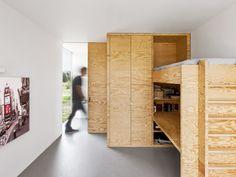 i29 interior architects | home 09: Bed, desk, wardrobe.