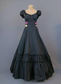 Bustling prom dress