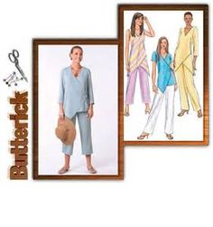 Butterick pattern 4238 loose wrap and overlap tops for linen and maybe ...