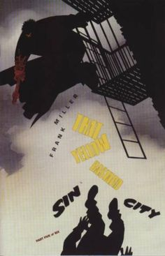 The cover to Sin City: That Yellow Bastard #5 (1996), art by Frank Miller & Lynn Varley