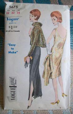 VOGUE Vintage Special Design Pattern 5675  Evening Dress Jacket Size 12 Cut