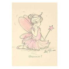 "Steve O'Connell Artist - ""Princess"" - Baby Ballerina Picture/Tutu/Ballet/Dance"