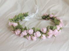 Pink Rosebud Layered Flower Crown by heartsandmermaids on Etsy, $14.00