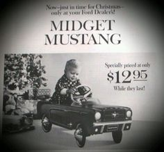 1964 Mustang Pedal Car Original Ford Dealership Edition | eBay