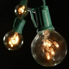 Globe String Lights 100 2inch Rice Light Bulbs 50 ft Green Wire ** To view further for this item, visit the image link.  This link participates in Amazon Service LLC Associates Program, a program designed to let participant earn advertising fees by advertising and linking to Amazon.com.