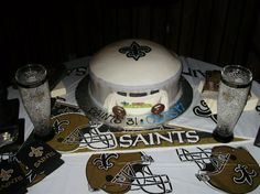Thanks to Jennifer for sending us a picture of this grooms cake! #Saints #NOLA #GroomsCake