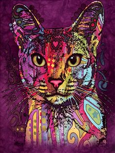 Pschedelic Cat by artist Dean Russo. - isn't he gorgeous?