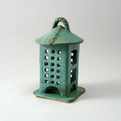 Tea Light Lantern by Cheryl Wolff: Ceramic Candleholder available at www.artfulhome.com