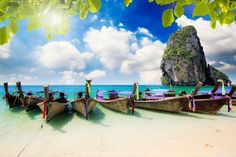 Long Tail Boats, Krabi, Thailand puzzle in Great Sightings jigsaw puzzles on TheJigsawPuzzles.com. Play full screen, enjoy Puzzle of the Day and thousands more.