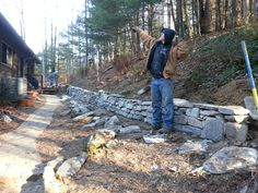 A stone wall completed in two days!