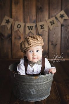 6 month baby picture idea. Vintage inspired. Legacy Portraits by Kayte. Photography. Kids. Cute baby boy outfit!