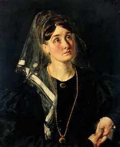 """Portrait of an Unknown Lady in Black"", ca.1837?; YMT YORAG : 286"