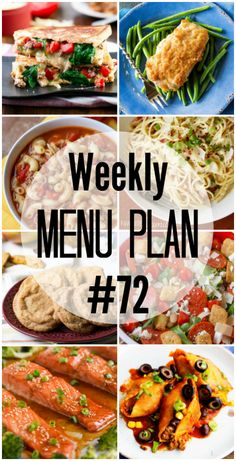 It's Saturday! And that means a new Menu Plan to get you through the week and make dinner easier!