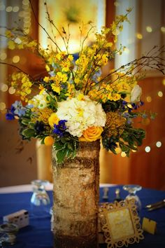 Pretty mountain centerpiece from an Estes Park wedding yesterday!