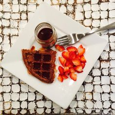 It's always a good morning when you have chocolate waffles for breakfast. Shhh. Don't tell them they're sugar free and gluten free wink emoticon #trickery #trimhealthymama #thm #healthyfood