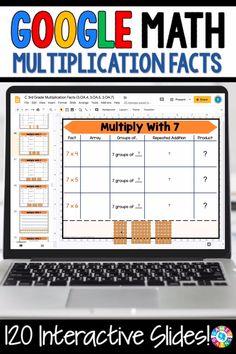 3rd Grade Classroom, Third Grade Math, Math Classroom, Math Fact Practice, Multiplication Practice, Multiplication Strategies, Math Fractions, Google Classroom, Google Math