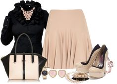 """""""Blush & Black"""" by sil-engler ❤ liked on Polyvore"""