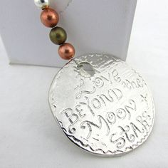 Men's Keychain, Key Chain for Dad, Father's Day Gift, Gift for Dad, Love Beyond the Moon