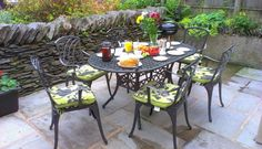 Breakfast on the patio at Woodside , near lakeside and Newby Bridge Outdoor Tables, Outdoor Decor, Cottages, Period, Outdoor Furniture Sets, Bridge, Breakfast, Home Decor, Morning Coffee