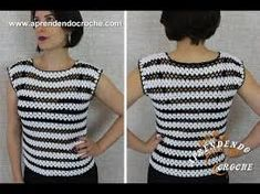 Resultado de imagem para croche blusa feita com dois quadrados