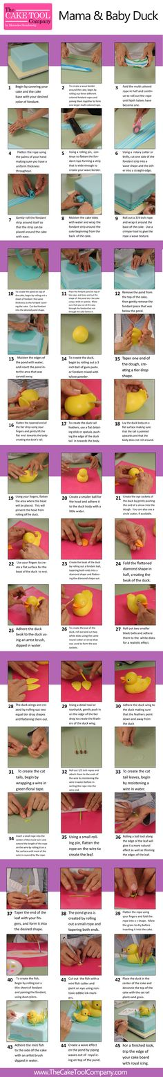 The Cake Tool Company | Mama and Baby Duck Tutorial - http://www.amazon.de/dp/B0126QJWPE